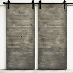Order Dogberry Collections Modern Slab Double Barn Door Alder / 72 inches / Sliding / Sliding / Silverwood, delivered right to your door. Sliding Barn Door Hardware, Sliding Doors, Double Barn Doors, Modern Barn Doors, The Doors, Interior Barn Doors, Closet Doors, Window Coverings, Modern Minimalist