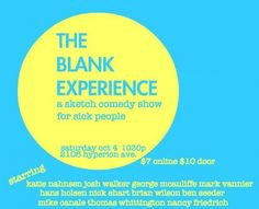 Allow THE BLANK EXPERIENCE to Fill You with Mirth This Weekend