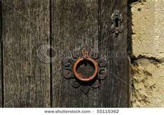 old door knob & keyhole in Church