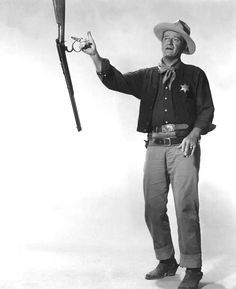 ❦ You want that gun? Pick it up. I wish you would. John Wayne - Rio Bravo