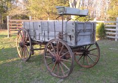 Wheels That Won The West® - Vintage Wagons - High Wheel Bain Wagon