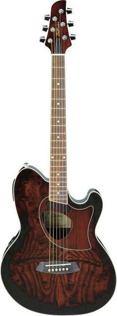 Ibanez TCM50 VBS Talman Series Double-Cutaway Acoustic-Electric Guitar | Vintage Brown Sunburst