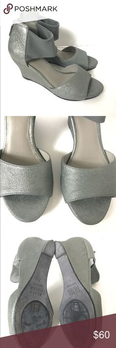 Eileen Fisher Metallic Wedges Size 7 Good preowned condition. Tiny mark on toe of right shoe. Does not really affect wear. Eileen Fisher Shoes Wedges