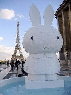Don't cry Miffy! / Tom Sachs - Miffy in Paris at The Eiffel Tower