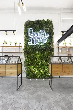 JHL design x OMFGCO revolutionise stereotypical dispensary experience in portland Boutique Interior, Shop Interior Design, Shop Board Design, Flower Shop Design, Portland, Store Signage, Pharmacy Design, Retail Store Design, Small Store Design