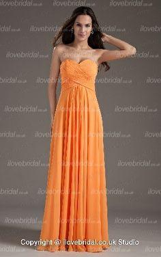 Gentlewomanly Sweetheart Wrinkled Floor Length Chiffon Orange Bridesmaid Dress Caitlins Wedding Ideas | Big Fashion Show orange bridesmaid dresses