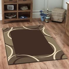 Viva Modern Black / Grey Contemporary Rug by Network Rugs. Get it now or find more All Rugs at Temple & Webster. Brown Beige, Black And Grey, Border Design, Rugs, Modern, Blue, Furniture, Home Decor, Shopping