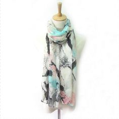 Watercolor Abstract Scarf