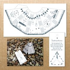 This would be a cute invitation to any occasion! Teepee Save the Dates // Teepee Wedding Invitations