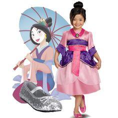Disney Princess Costumes for Dress-Up Play,Mulan