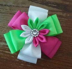 sweet Ribbon Hair Clips, Hair Ribbons, Ribbon Art, Diy Hair Bows, Diy Bow, Ribbon Crafts, Ribbon Bows, Ribbon Flower Tutorial, Hair Bow Tutorial
