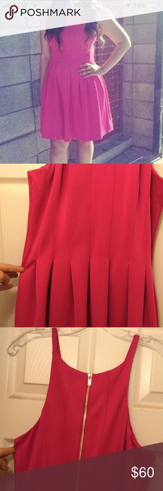 Calvin Klein hot pink dress Beautiful hot pink dress. Only worn once. Calvin Klein Dresses
