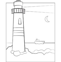 Lighthouse Coloring Pages For Kids Images  Crafts two  Pinterest