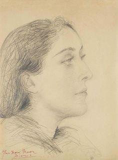 urgetocreate:  Pablo Picasso, Portrait de Dora Maar de Profil, 1937