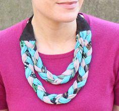 Easy Braided Jersey Necklace | AllFreeJewelryMaking.com
