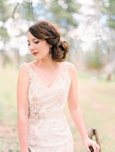 Woodland wedding ideas | Photo by Lisa O'Dwyer Photography hair by Carly Ackerman| Read more - http://www.100layercake.com/blog/?p=77745