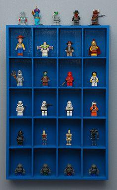 Lego minifigure display
