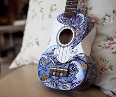 Beautiful guitar design, and it was only done with sharpie!
