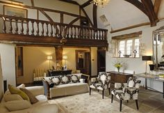 Medieval large luxury self-catering manor house in Wiltshire, Luxurious style dances with historical grandeur at Avalon Manor in Scudamore, Cotswolds Medieval Houses, Exposed Beams, Luxury Holidays, My Furniture, Love Home, Luxury Travel, Beautiful Homes, Catering, Home Decor