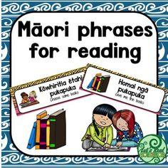 Maori Phrases and questions to support reading in your New Zealand  junior class. Includes 16 phrases such as:- Choose a book- Turn the page- Get a book- Get 2 books- Do you like this book?Each phrase/question is in Maori and English. These make great labels for your classroom.