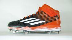 timeless design 4a913 d0a70 New Adidas Power Alley 3 Men s Metal Baseball Cleats Orange   Blk S84789  Size 13