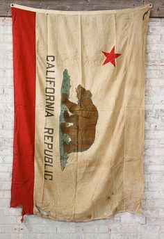 Vintage California Bear Flag from Etsy Places In California, California Living, California Republic, Vintage California, California Dreamin', Northern California, Banner, Vintage Flag, Junk Food Clothing