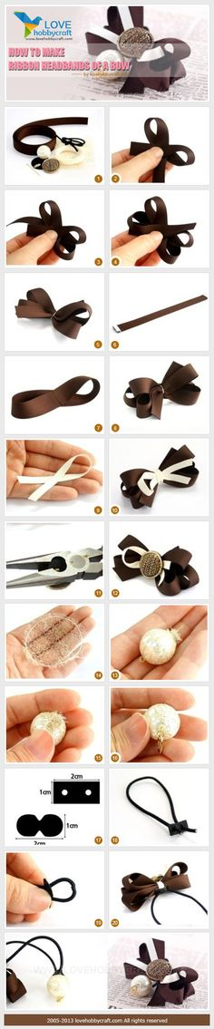 How to make ribbon headbands of a bow