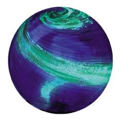 Glow-in-the-Dark Illuminarie Glass Gazing Globe, Light Blue Swirl If you want a unique addition to your garden and a spark of interest in a otherwise dark area at night this is a great addition.