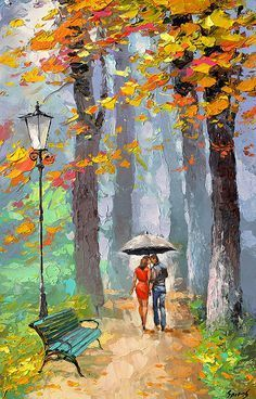Oil painting home decor wall art wall decor living room decor canvas painting Case Kiss oil spatula. Oil painting home decor wall art wall decor living room decor canvas painting Oil Painting On Canvas, Canvas Art, Painting Art, Autumn Painting, Art Mural, Art Décor, Home Decor Wall Art, Room Decor, Home Decor Paintings