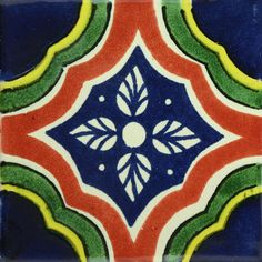 Traditional Mexican Tile - Palacio Especial - Mexican Tile Designs http://www.mexicantiledesigns.com/pages/tile-collections