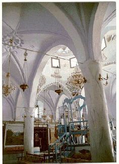 Synagogue in Tzfat, Israel.