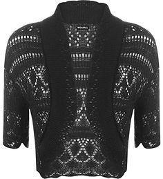WearAll Womens Knitted Bolero Short Sleeve Shrug -- Continue to the item at the image link.