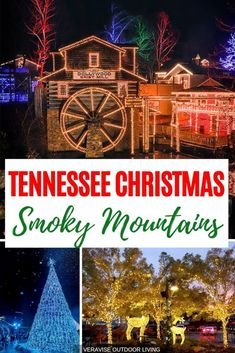 A Tennessee Christmas in the Smoky Mountains means lights, lights, and more lights. Don't miss all the amazing lights and Christmas spirit in the Smoky Mountains. #tennessee #smokymountains #christmas