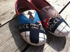 Doctor Who/ Tardis Shoes.... Someone should get me these!;)