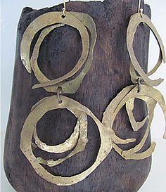 organic circular earrings