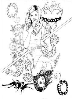 Pin By April Dikty Ordoyne On Buffy The Vampire Slayer In 2019 Coloring Pages Coloring
