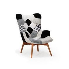 Maurice Patchwork Quilting Chair, Black & White