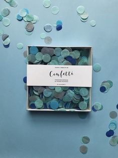 Blue confetti for your party 🎉 #blueconfetti #partydecor #partyconfetti #present #valentine Confetti, Photo And Video, Frame, Day, How To Make, Instagram, Picture Frame, Frames, Hoop
