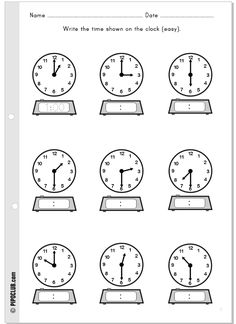 horas, time telling 1st Grade Worksheets, 1st Grade Math, French Worksheets, Teaching Time, Teaching Math, Telling Time In Spanish, Math Clock, Math Measurement, Homeschool Math