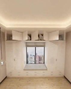 Small Room Design Bedroom, Small House Interior Design, Bedroom Closet Design, Bedroom Furniture Design, Home Room Design, Interior Design Kitchen, Bedroom Decor, Cama Design, Small Rooms