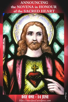ANNOUNCING the NOVENA to the SACRED HEART BEGINS 14 JUNE We may say that devotion to the Sacred Heart began on Calvary.   When the Heart of Christ was pierced on the Cross, it opened the door to re…