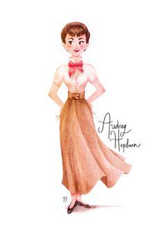 Audrey Hepburn - Genevieve Godbout, illustrator