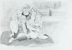 Custom pencil portraits in memory of Baby Hope Chloe James, Custom Pencils, Personalized Pencils, Pencil Portrait, Poppies, Bloom, Portraits, Gallery, Artist