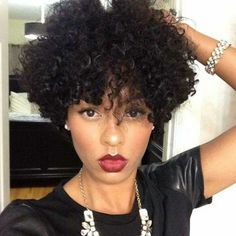 Her hair is giving me life! And that lip color! Flawless