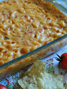 This Salsa Macaroni & Cheese is a fun and tasty meal that your family will love!  Serve with tortilla chips and a fresh salad for a great dinner any night of the week! CozyCountryLiving.com #dinner