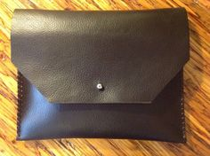 Leather clutch  by kingstreetcollars on Etsy, $45.00