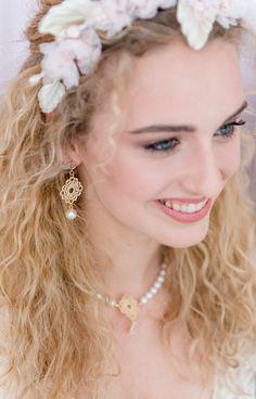 Spitzenohrringe *Aujourd'hui* mit Perlen