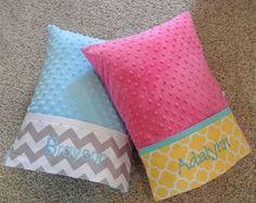 Personalized Minky Travel Pillows by LizzysBiz on Etsy