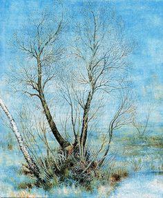 """Катерина Білокур (1900— 1961). """"Весною"""", 1958"""