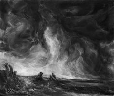 Ward Davenny. Viewers at Hastings, (Nebraska), 2010. Charcoal on Paper. 39 x 47 inches.